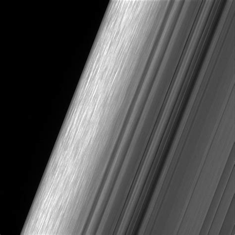 saturn ring spokes cassini offers best view of saturn s rings