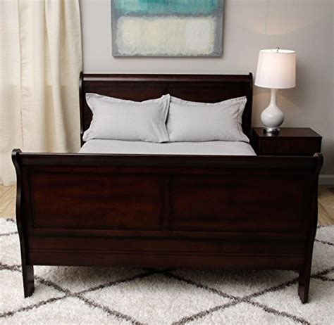 Cherry Wood Sleigh Bed Size Sleigh Bed Cherry Wood Finish Bedroom Furniture Canterbury Style Bed Frames