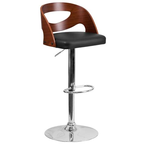 cushioned bar stool flash furniture adjustable height chrome cushioned bar