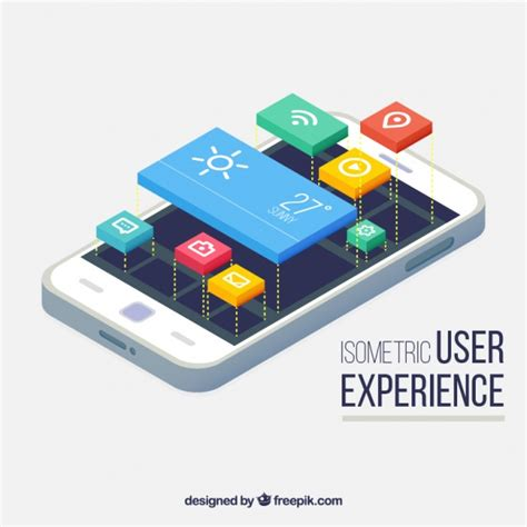 mobile view isometric view of a mobile phone and buttons for