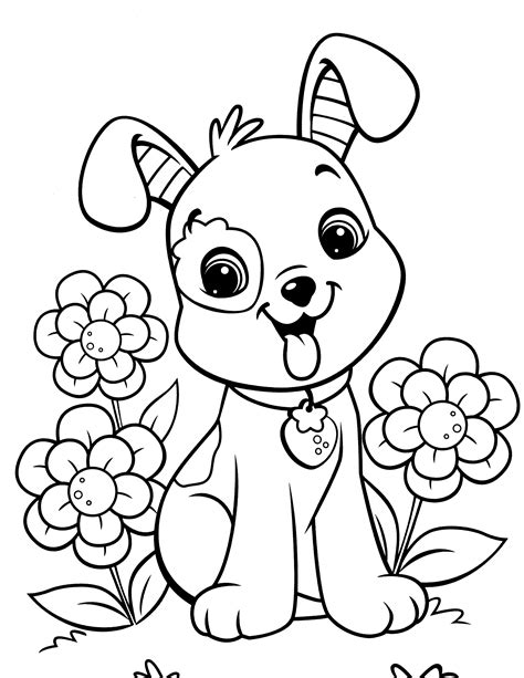 Popular Doggie Coloring Pages 24 9524