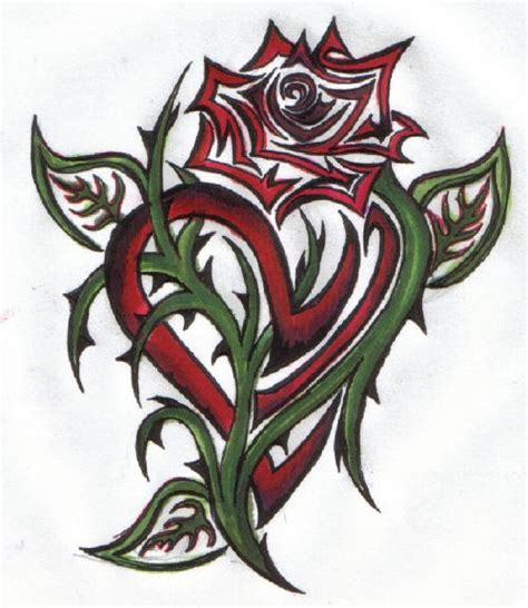 rose tattoos tribal hearts  roses