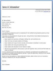 Certified Nurses Aide Cover Letter by Cna Cover Letter Exle Resume Downloads