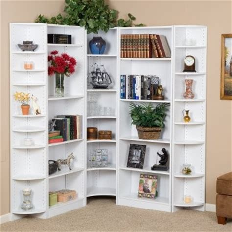 Large Corner Bookcase Premier Large Corner Bookcase Wall White Modern Bookcases By Hayneedle
