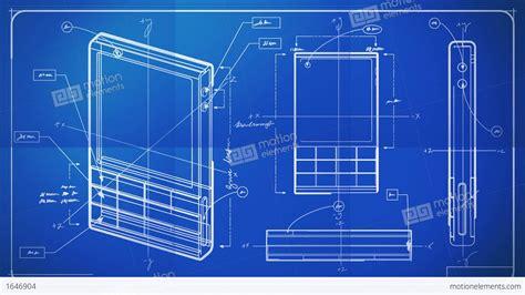 design a blueprint classic smartphone technical drawing blueprint stock