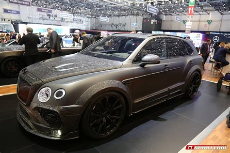 mansory bentley geneva 2017 mansory bentley bentayga black edition gtspirit