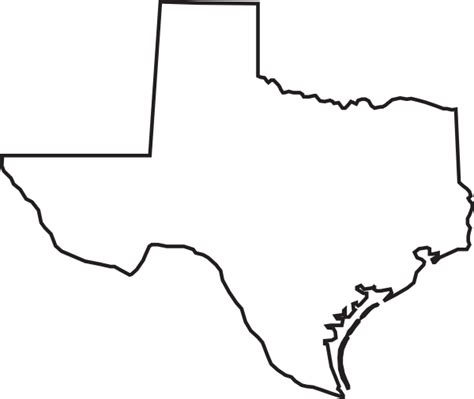 texas outline map texas outline clip at clker vector clip royalty free domain
