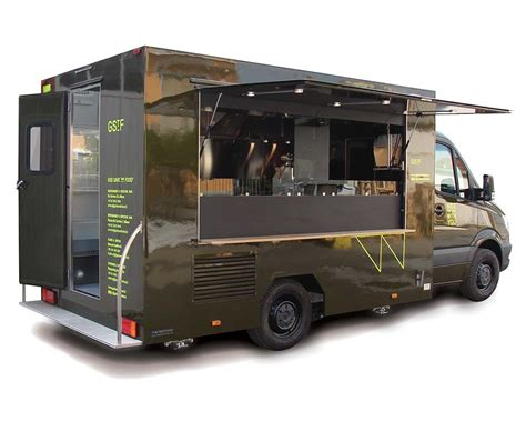 Kitchen Cabinets Used by Mercedes Food Van Mobile Restaurant