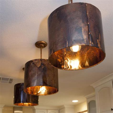 copper drum shaped pendant l for charming living room ideas mediterranean kitchen copper pendant light custom gifts