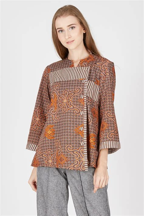 Truntum Blouse harga blouse batik lurik truntum brown pricenia