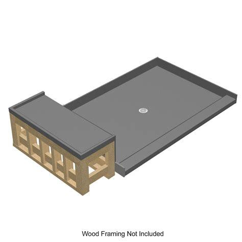 tile redi bench installation tile redi 3448c rb34 kit 34 tile redi shower pan and trays
