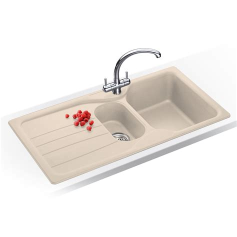 Beige Kitchen Sinks Franke Calypso 1 5 Bowl Granite Coffee Beige Kitchen Sink Cog651 Franke Tap Ebay
