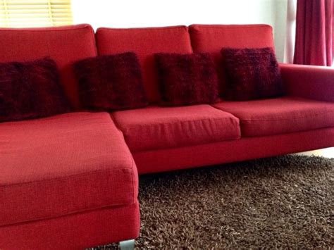 red l shaped couch red l shaped sofa living room furniture red fabric l shape