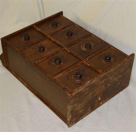 bargain johns antiques wall mount wooden spice rack