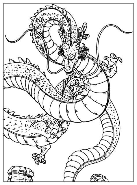 dragon ball z shenron coloring pages shenron dragon ball coloring pages