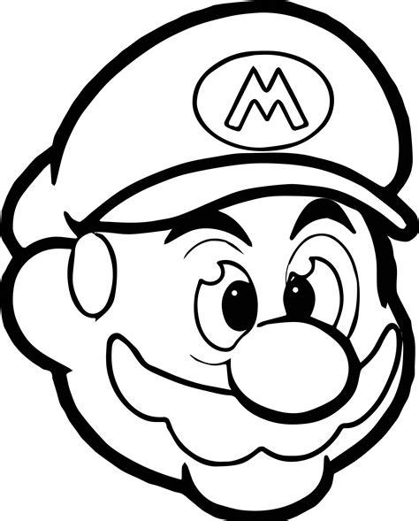 Mario Head Coloring Page | mario head icon coloring page wecoloringpage