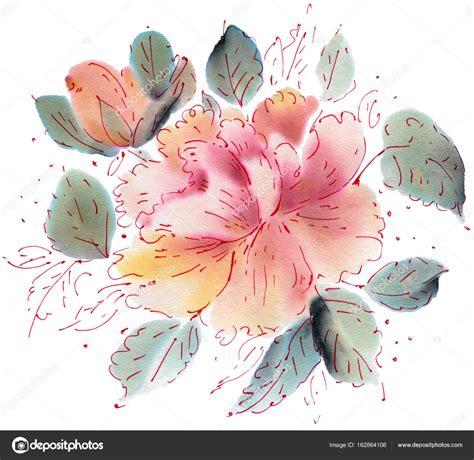 fiori ad acquerello modello di fiori ad acquerello foto stock 169 tiff20