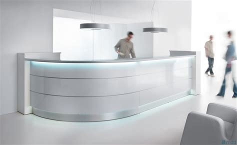 high reception desk valde large curved solid surface reception desk with high