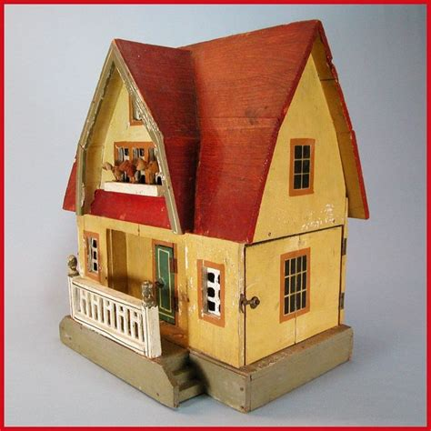 dollhouse 3 4 scale antique gottschalk roof dollhouse with three rooms