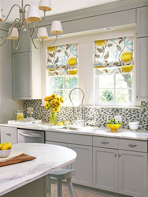Kitchen Shades by Kitchen Window Treatments