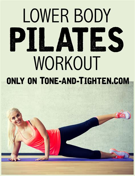 lower at home pilates workout tone and tighten