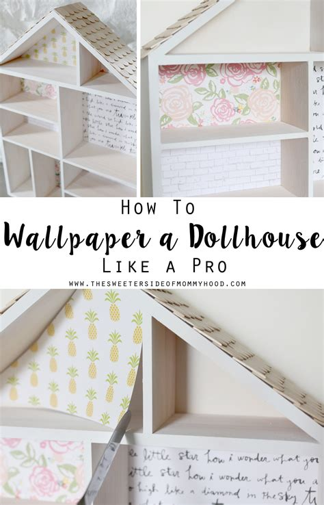 how much is a doll house diy dollhouse part 2 how to wallpaper a dollhouse like a pro