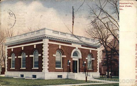 Oak Park Post Office by Post Office Oak Park Il Postcard