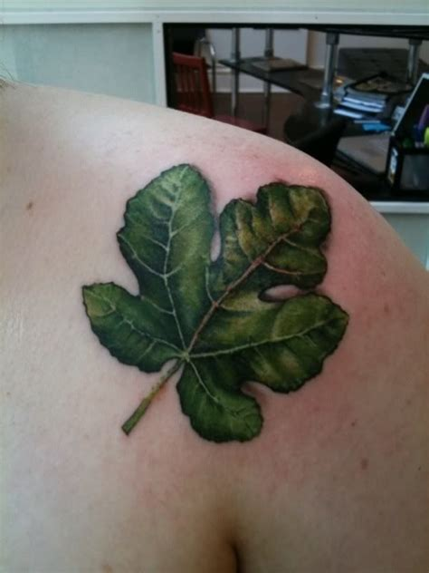fig tree tattoo bell jar inspired fig leaf toying with tatties