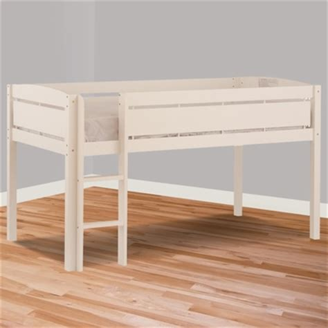 canwood whistler junior loft bed canwood whistler junior twin loft bed in white free shipping