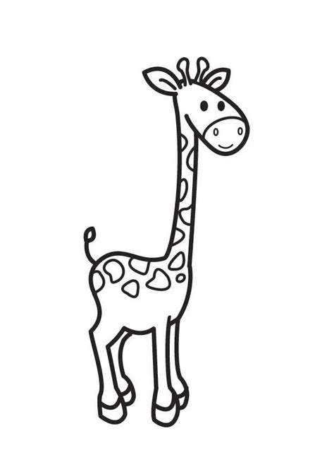 imagenes jirafas colorear dibujo para colorear jirafa img 17896