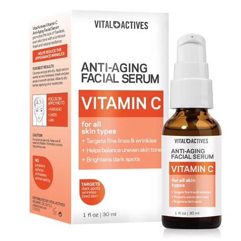 Review Renewance Anti Aging Chemical Peel by Vital Actives Anti Aging Vitamin C Serum 1oz 30ml