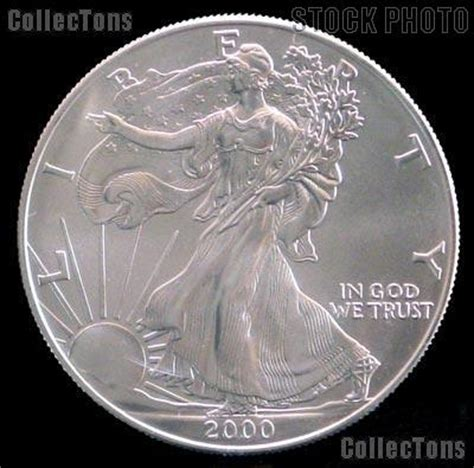 1 Oz Silver Dollar Worth - 2000 american silver eagle dollar bu 1oz silver