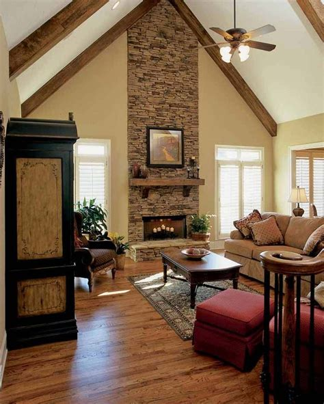 images  stone fireplaces  pinterest house