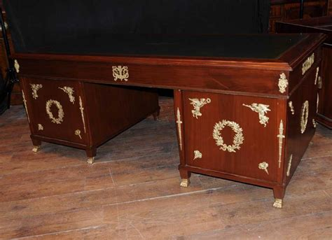 antique french writing desk antique french empire pedestal desk writing bureau