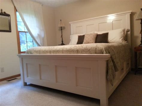 king farmhouse bed ana white king farm house bed diy projects