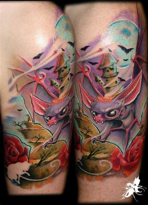 g 225 bor jelencsik creates a humor and horror tattoo in one