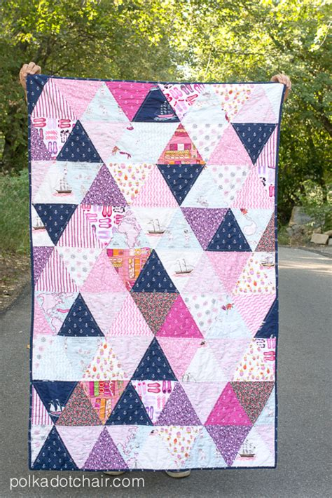 Basic Quilt Designs by How To Make A Triangle Quilt On The Polka Dot Chair