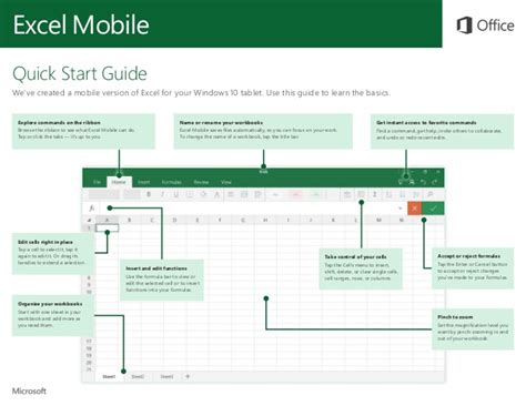 quick change level starter beginner 8483238098 microsoft excel mobile quick start guide