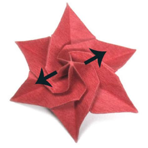 Origami Poinsettia Flower - how to make an origami poinsettia flower page 19