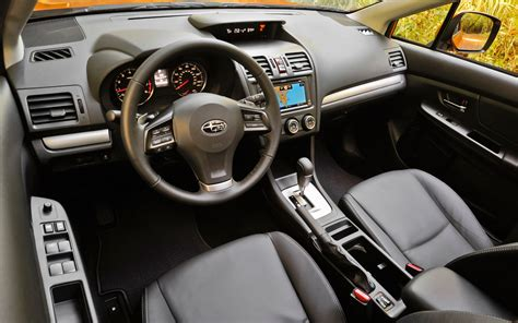 subaru xv 2013 interior drive 2013 subaru xv crosstrek automobile magazine