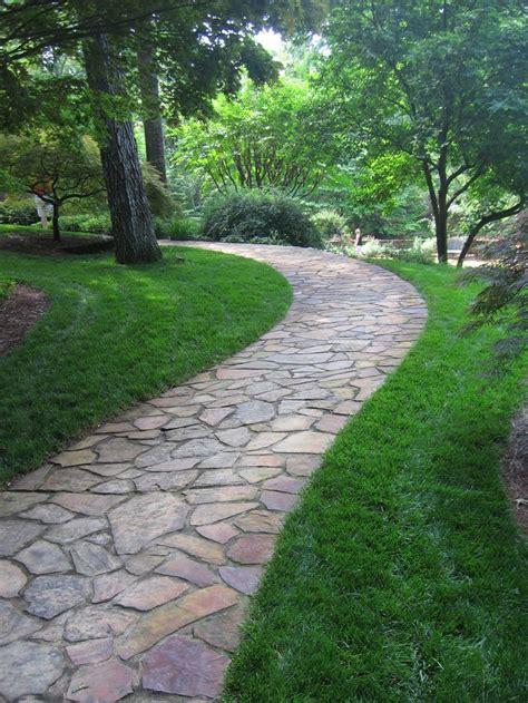 best 25 flagstone path ideas on pinterest