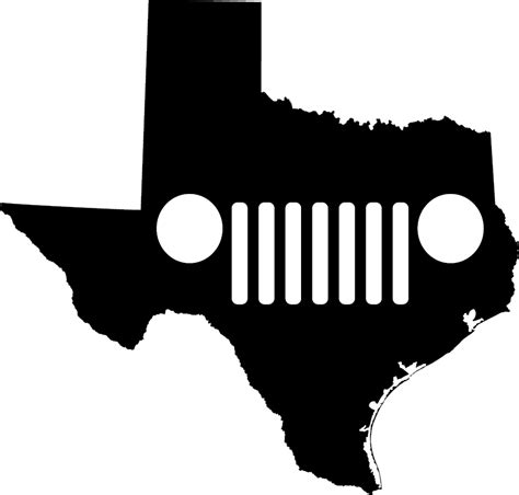 texas jeep grill texas tj grill decal trail decals