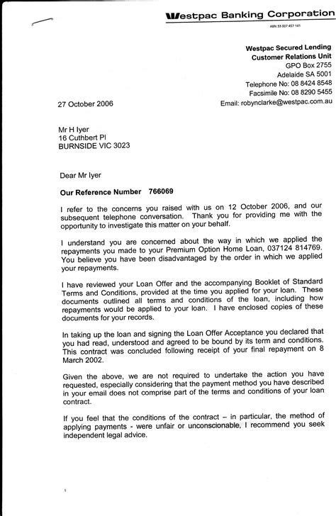 Westpac Letter Of Credit new page 1 www hariiyer au