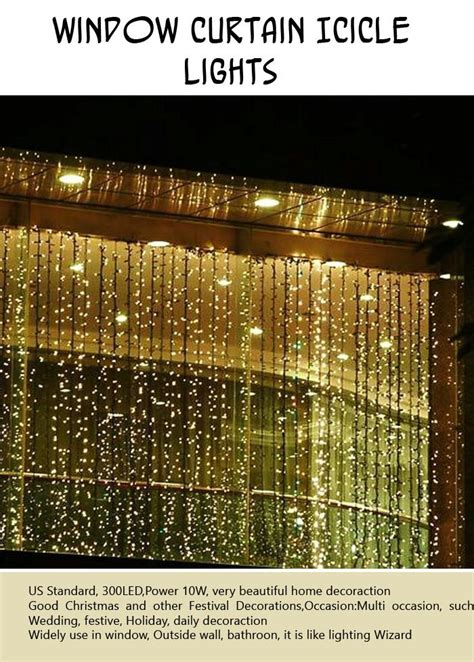 window curtain icicle lights best outdoor holiday decorations 10 pics