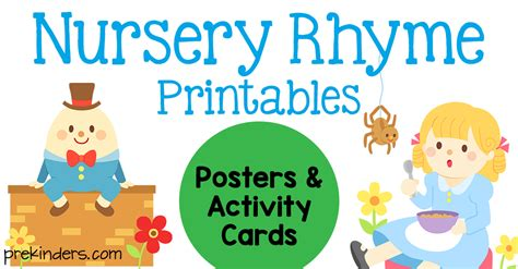printable nursery rhymes nursery rhyme printables for kindergarten best idea garden