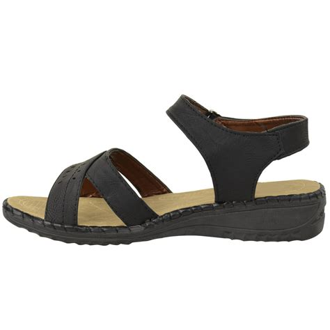 large sandals womens comfort wide casual walking flat summer
