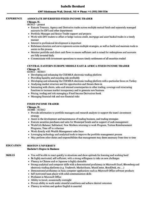 Fixed Income Trader Sle Resume by Day Trader Resume Traders Resume Deforestation Essay