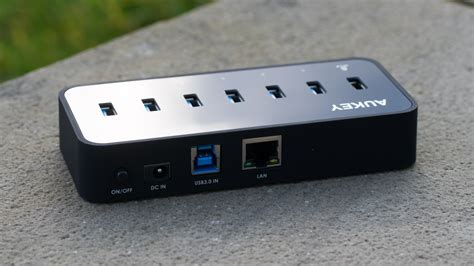 Usb Lan Hub aukey usb 3 0 hub mit lan anschluss und 6 usb ports im