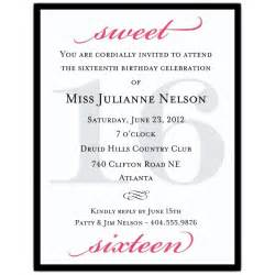 sweet 16 invitation quotes quotesgram