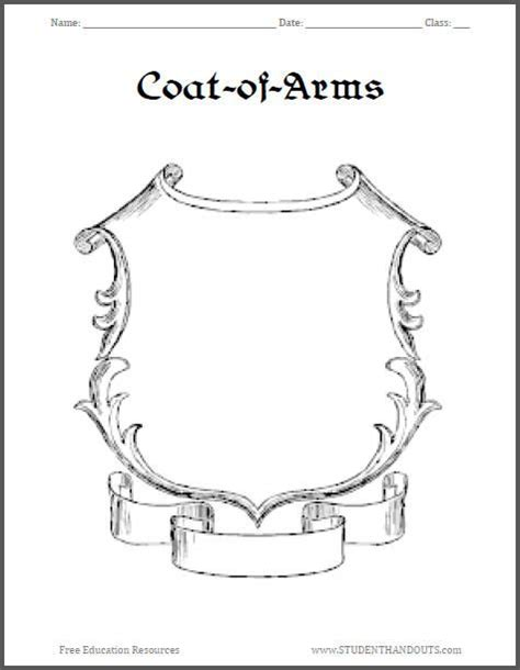 Coat Of Arms Design On Pinterest Coat Of Arms Medieval Times And Templates Crest Design Template